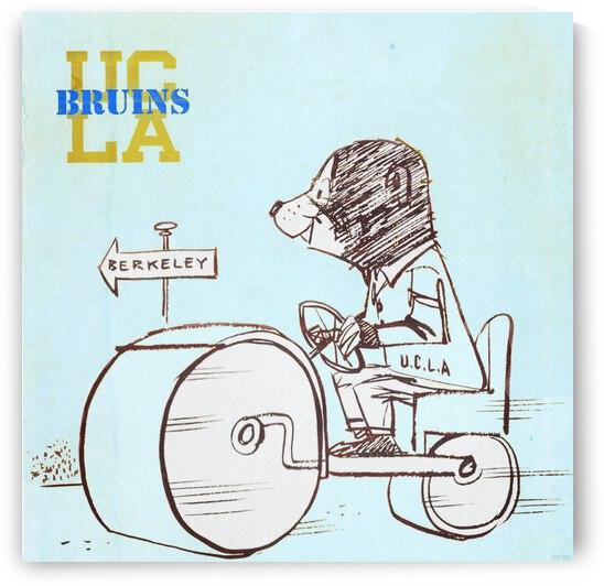 1954 UCLA Bruins Cartoon Art by Row One Brand