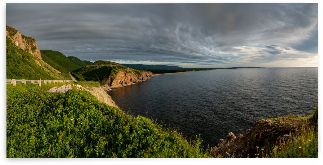 Cabot Trail View towards Cheticamp by Michel Soucy