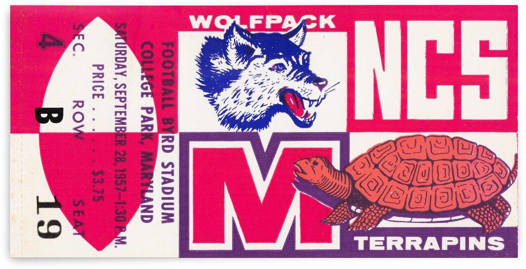 1957 Maryland vs. North Carolina State Football Ticket Art by Row One Brand