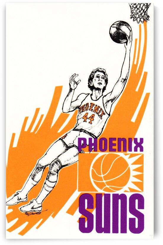 1977 Phoenix Suns Basketball Art by Row One Brand