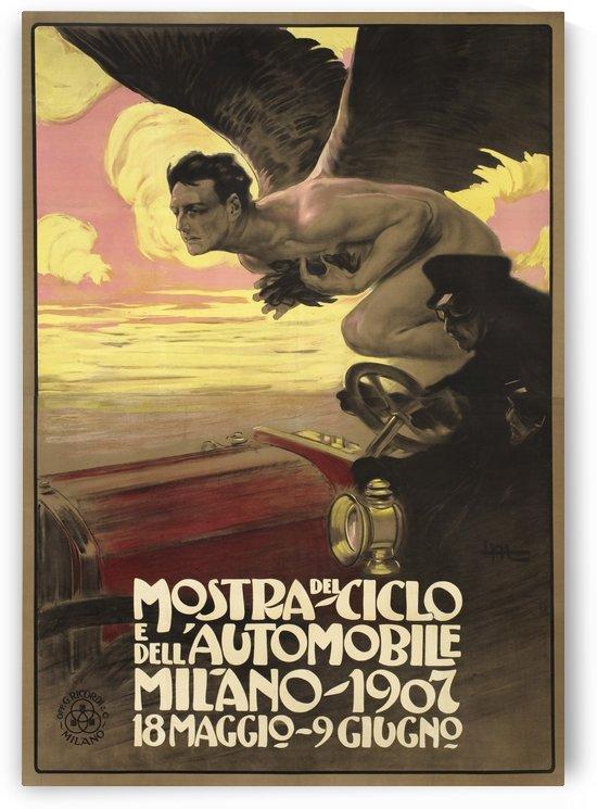 Mostra Del Ciclo E Del Automobile Italian Poster by VINTAGE POSTER