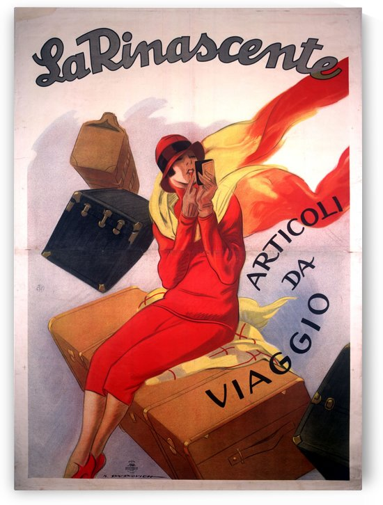 La Rinascente old poster by VINTAGE POSTER
