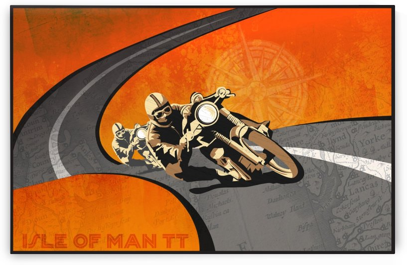Isle of man TT poster by VINTAGE POSTER