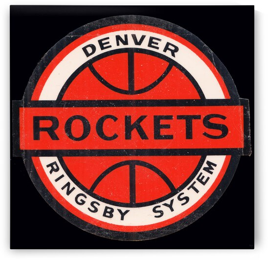 1967 Denver Rockets Ringsby System Art by Row One Brand