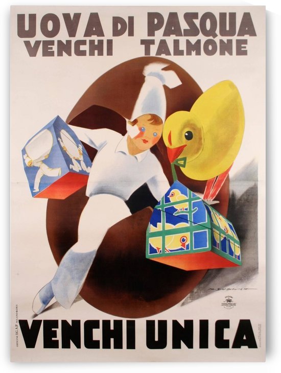 Italian Venchi Chocolate Poster by VINTAGE POSTER