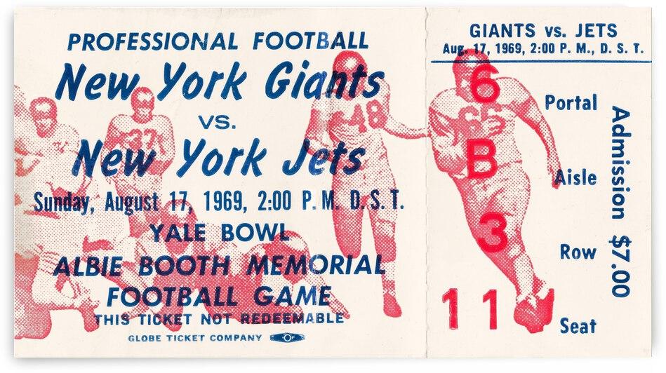 1969 New York Jets vs. NY Giants by Row One Brand