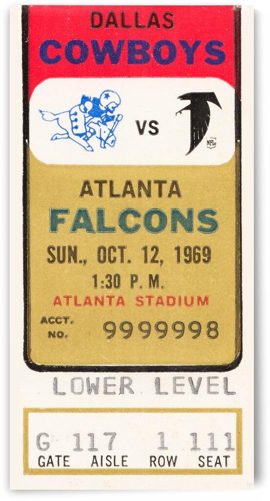 1969 Dallas Cowboys vs. Atlanta Falcons by Row One Brand