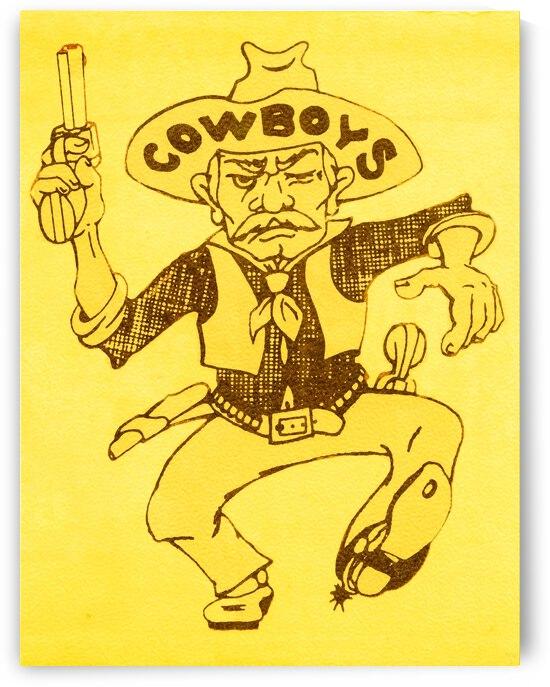 1977 Wyoming Cowboys Retro Art by Row One Brand
