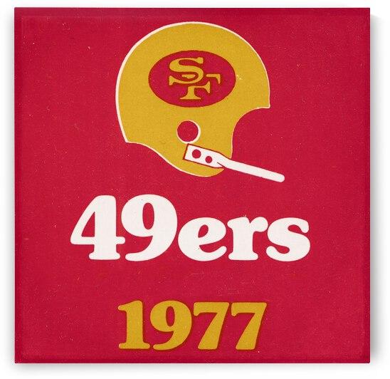 1977 San Francisco 49ers Helmet Art by Row One Brand