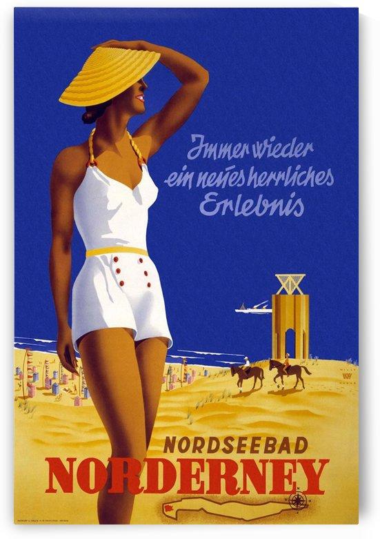 Nordseebad Norderney vintage travel poster by VINTAGE POSTER