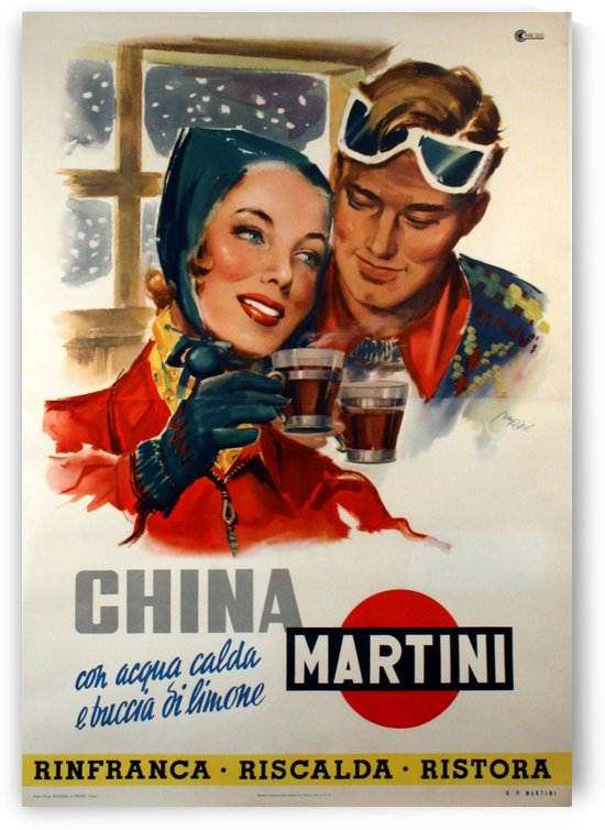 Martini China Lixy Poster by VINTAGE POSTER