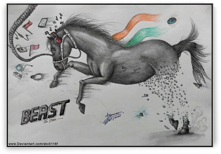 Horse Visual Art by Shubham Carpenter
