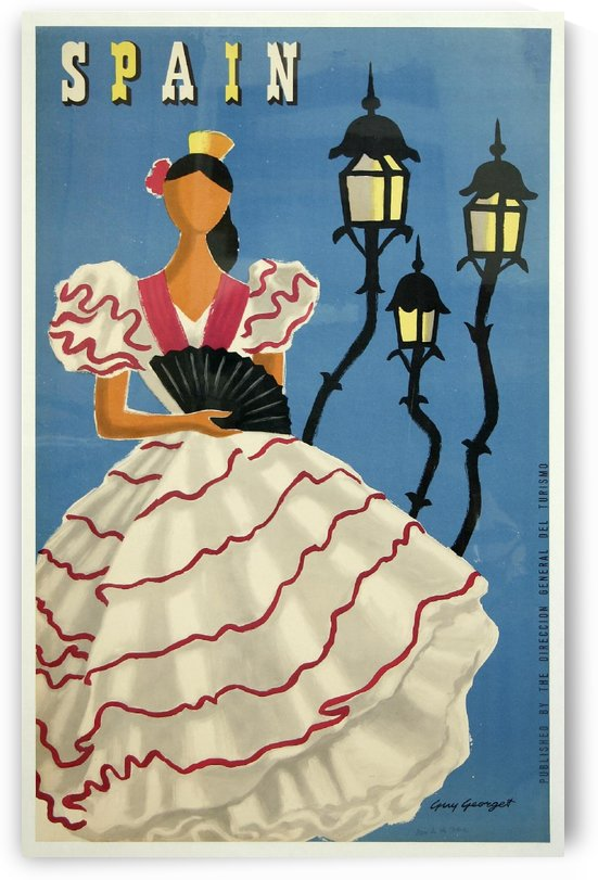 Spanish Tourism Faceless Woman Poster by Guy Georget by VINTAGE POSTER