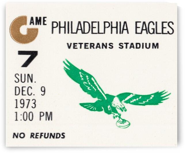 1973 Philadelphia Eagles Ticket Stub Remix Art by Row One Brand