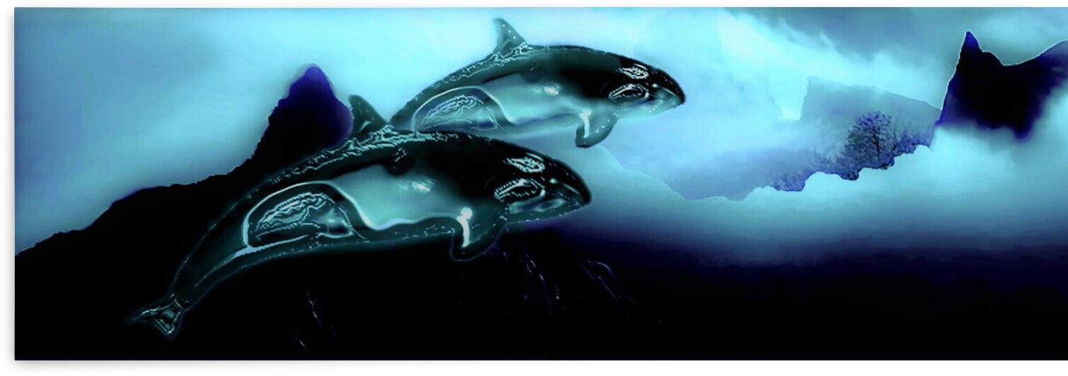 ORCAS LUNARES WIDE 2   by Aldane Wynter
