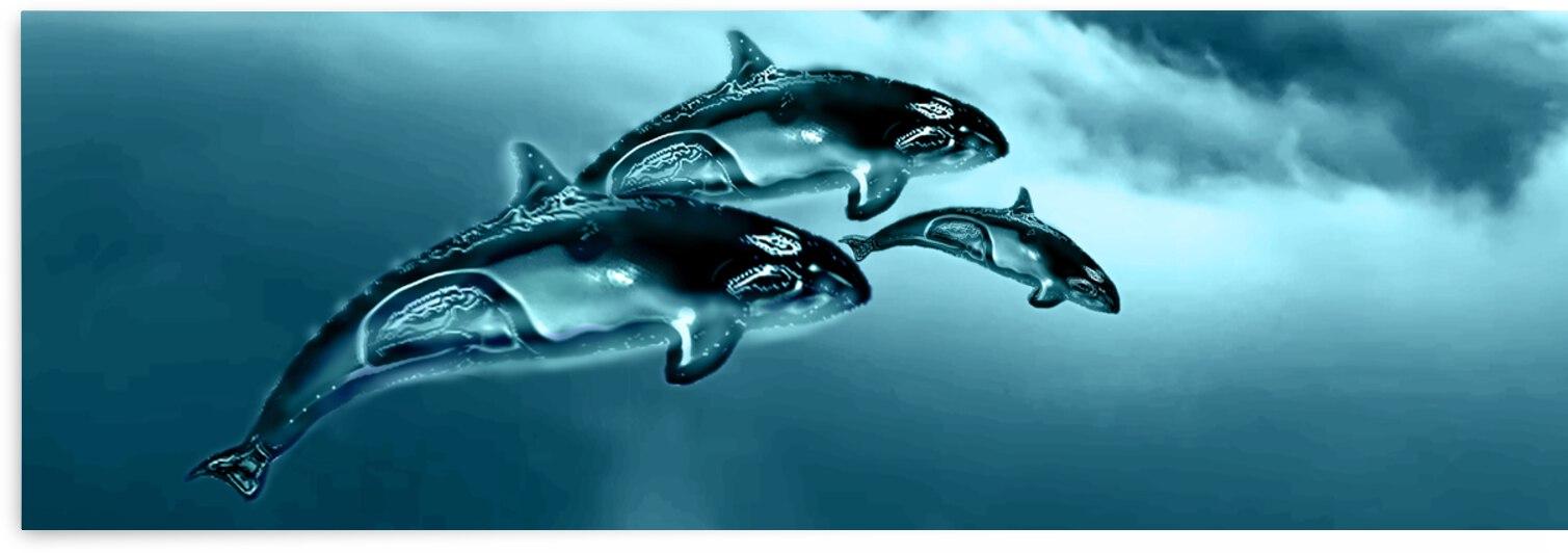 ORCAS LUNARES WIDE 5 by Aldane Wynter