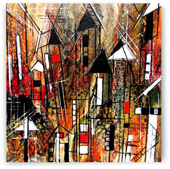 Urban Crowding  by Cheryl Ehlers