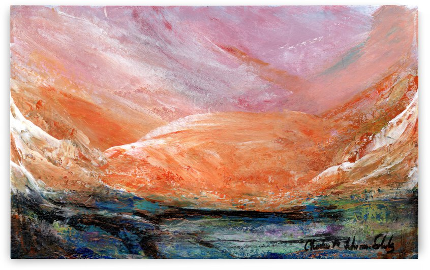 Rosy Quartz Mountains by Charlene M Fuhrman Schulz