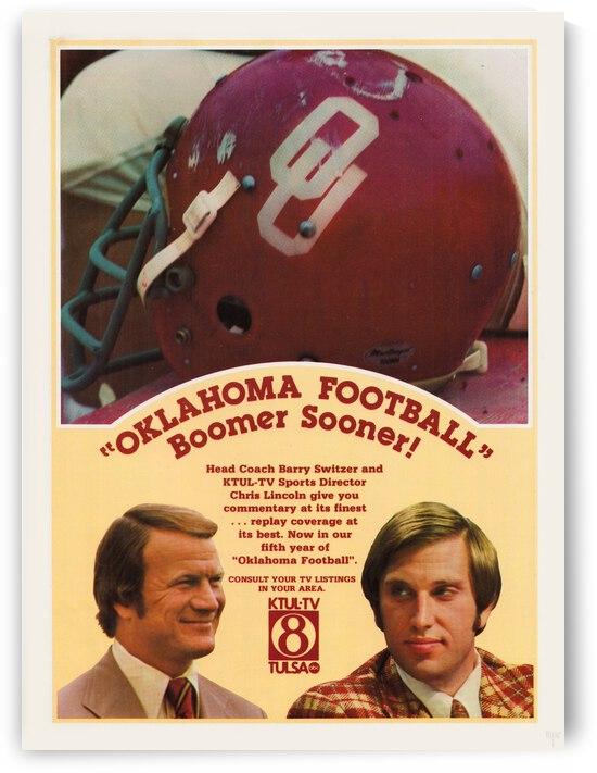 1977 Oklahoma Football Show Ad Barry Switzer  by Row One Brand