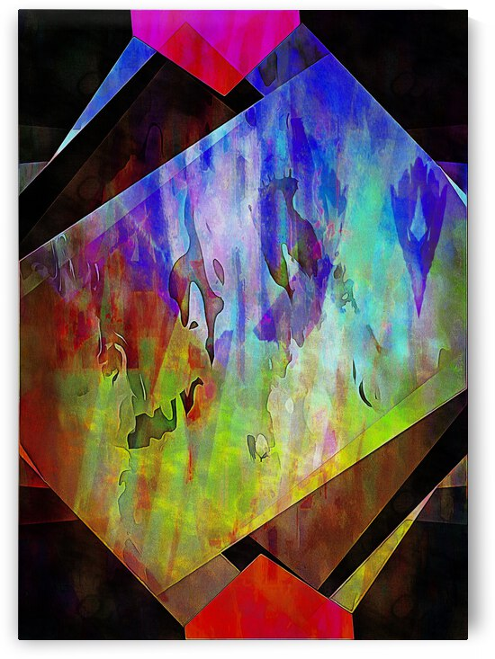 Multicolored Experimental Headache 16 by Dorothy Berry-Lound