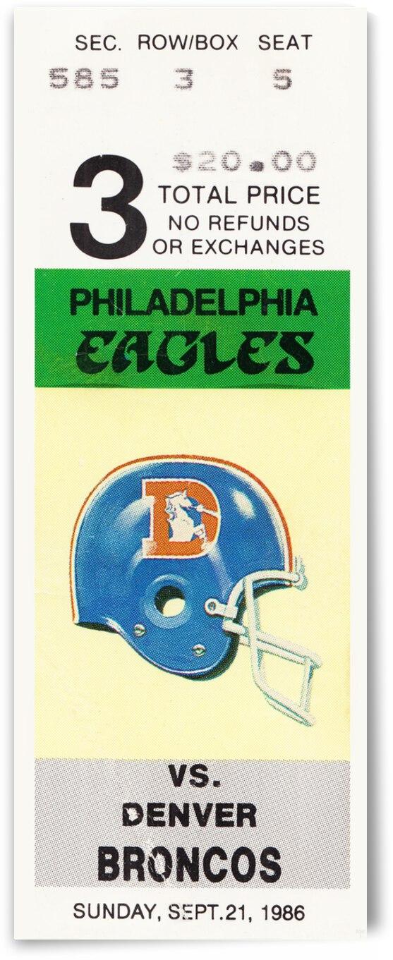 1986 Philadelphia Eagles vs. Denver Broncos  by Row One Brand