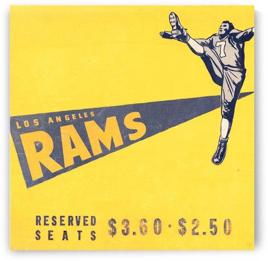 1947 LA Rams Ticket Ad Art Row 1 by Row One Brand