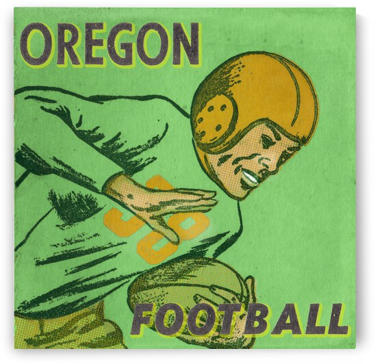 1954 Oregon Ducks Football Art by Row One Brand