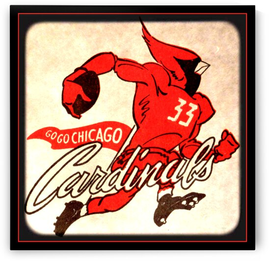 1956 Chicago Cardinals Viewfinder Slide Art by Row One Brand