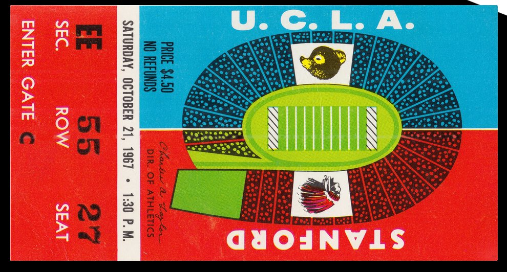 1967 UCLA Bruins vs. Stanford Indians by Row One Brand