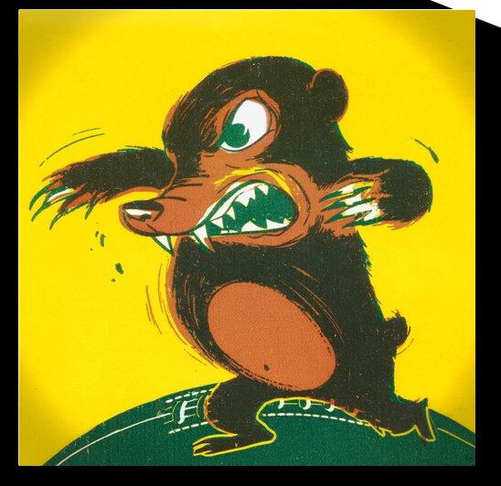 1957 Baylor Bear Football Art Remix by Row One Brand