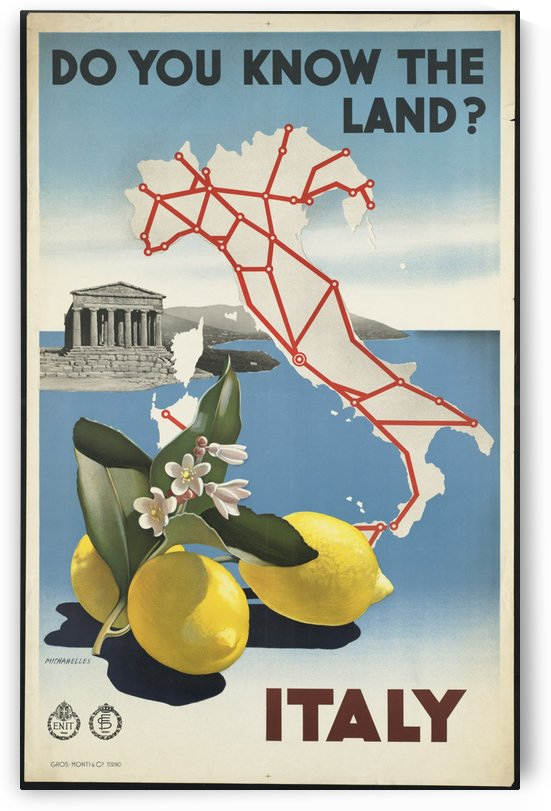 Do you know the land Italian tourism poster by VINTAGE POSTER