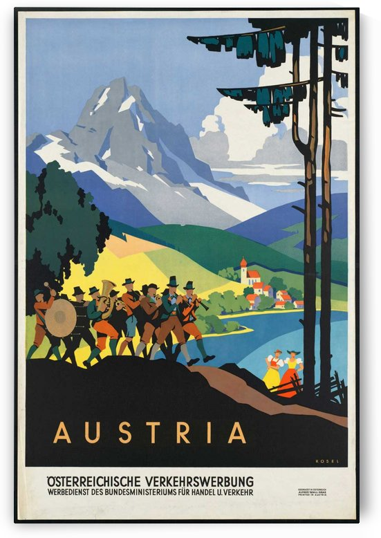 Austira Vintage Travel Poster by VINTAGE POSTER