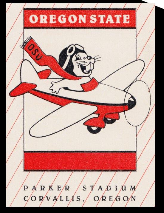 1985 Oregon State Beaver Football Ticket Stub Remix Art by Row One Brand