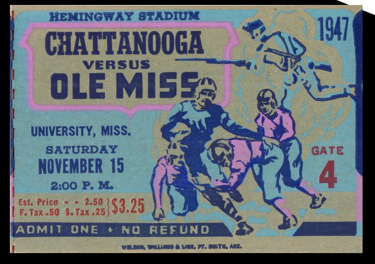 1947 Ole Miss Rebels vs. Chattanooga by Row One Brand