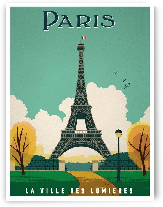 Paris La Ville des Lumieres vintage travel poster by VINTAGE POSTER