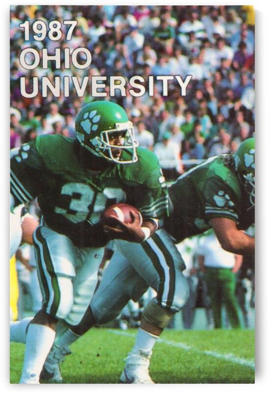 1987 Ohio Bobcats Retro Football Poster by Row One Brand