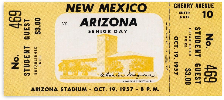 1957 Arizona Wildcats vs. New Mexico Lobos by Row One Brand