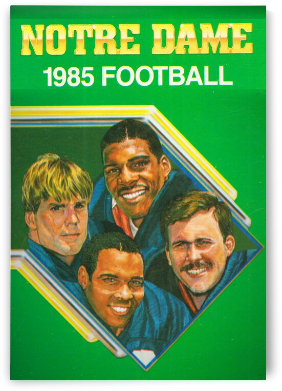 1985 Notre Dame Retro Football Poster by Row One Brand
