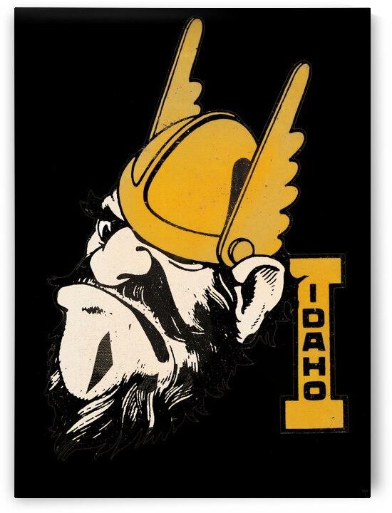 Vintage Fifties Idaho Vandals Joe Vandal Art by Row One Brand