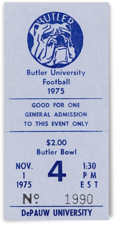 1975 Butler Bulldogs vs. DePauw by Row One Brand