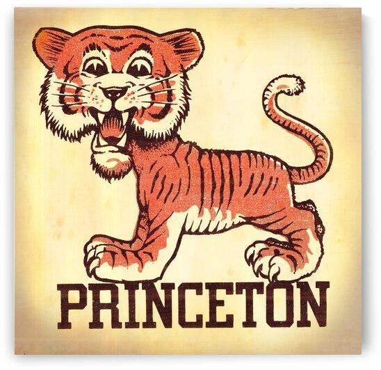 Vintage Fifties Princeton Tiger Remix Art by Row One Brand