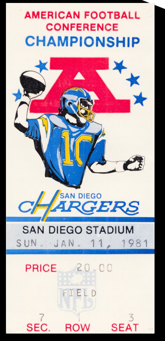 1981 Oakland Raiders vs. San Diego Chargers  by Row One Brand