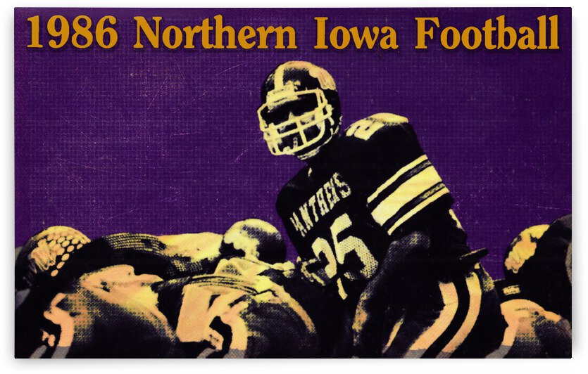 1986 Northern Iowa Panthers Football Poster by Row One Brand