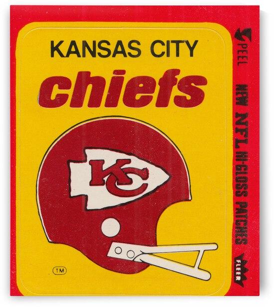 1980 Kansas City Chiefs Fleer Decal Art by Row One Brand