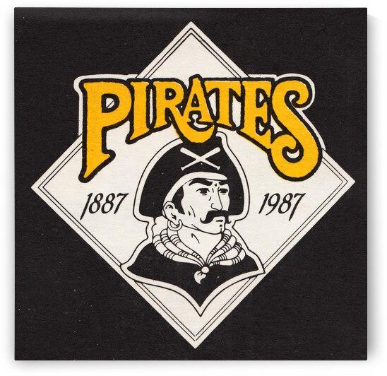1988 Pittsburgh Pirates Retro Art by Row One Brand