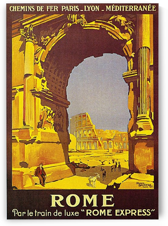 Rome, Italy Vintage Travel Poster by VINTAGE POSTER