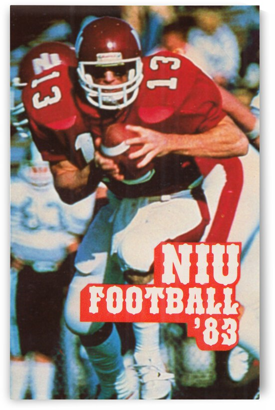 1983 Northern Illinois Huskies Football Poster by Row One Brand
