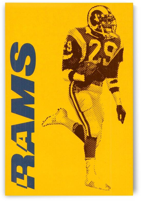 1986 LA Rams Football Art by Row One Brand