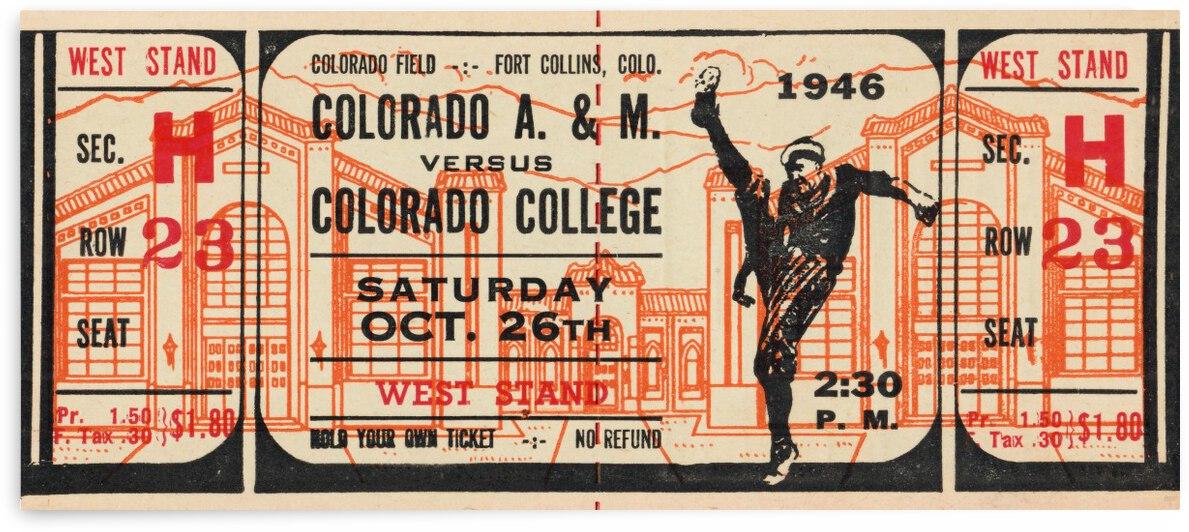 1946 Colorado College Tigers  vs. Colorado A&M Aggies by Row One Brand