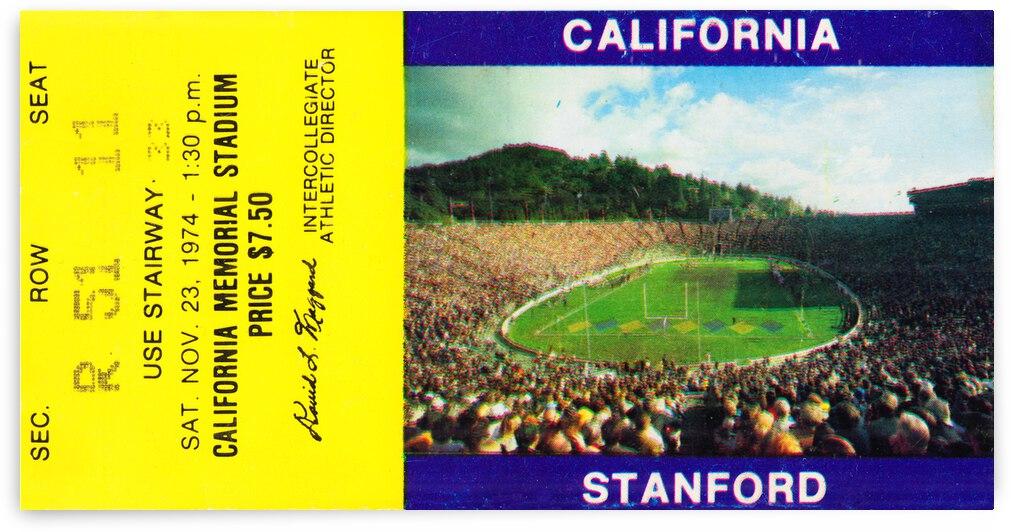 1974 California Bears vs. Stanford Cardinal by Row One Brand